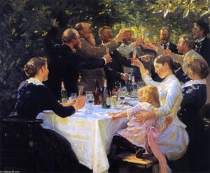 Peder Severin Kroyer - Hip, Hip, Hurrah!