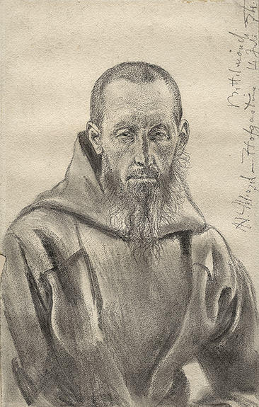 Begging Monk by Adolph Menzel (1815-1905, Poland) | Art Reproduction | ArtsDot.com