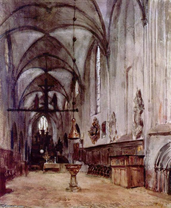Choir of the old monastery church in Berlin by Adolph Menzel (1815-1905, Poland) | Museum Art Reproductions | ArtsDot.com