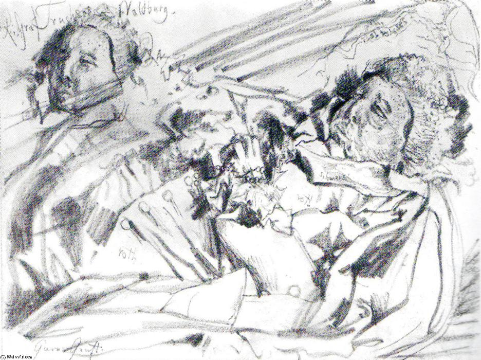 Corpse of the Imperial Count von Waldburg, Drawing by Adolph Menzel (1815-1905, Poland)