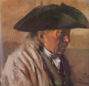 Adolph Menzel - Peasant with a Three-Cornered Hat