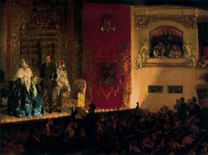 Adolph Menzel - Theatre of Gymnase