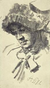 Adolph Menzel - Woman in Hat