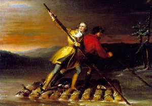 Daniel Huntington - GEORGE WASHINGTON AND CHRISTOPHER GIST ON THE ALLEGHENY RIVER
