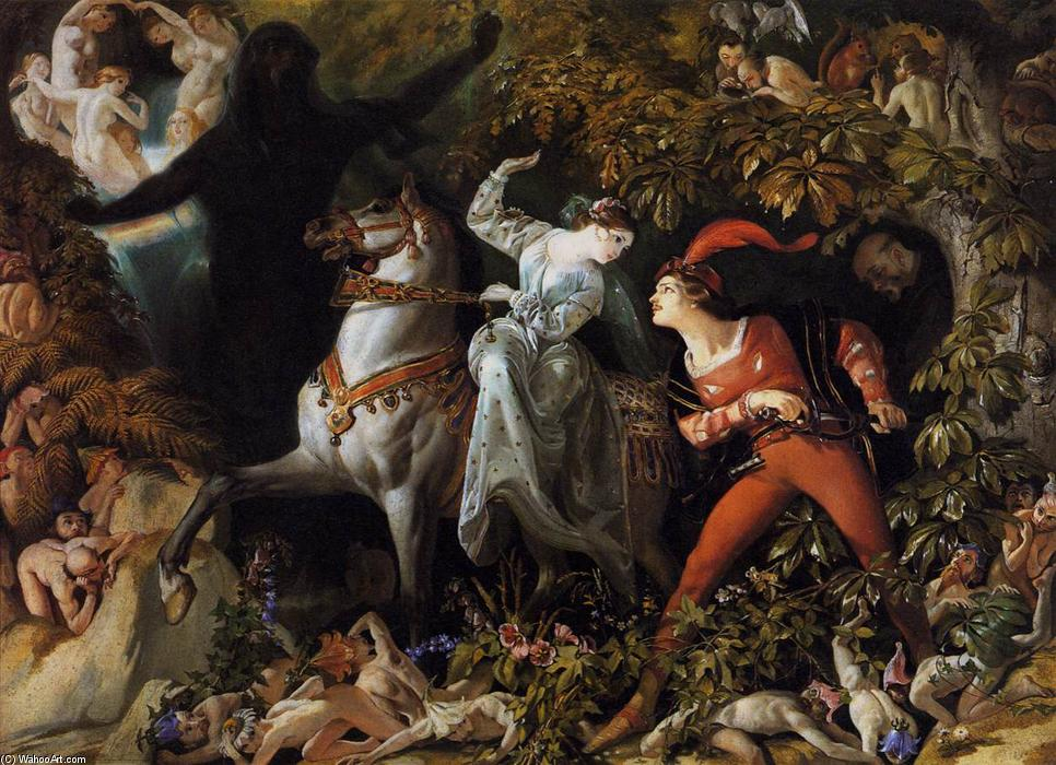 A Scene from 'Undine', Oil On Canvas by Daniel Maclise (1806-1870, Ireland)