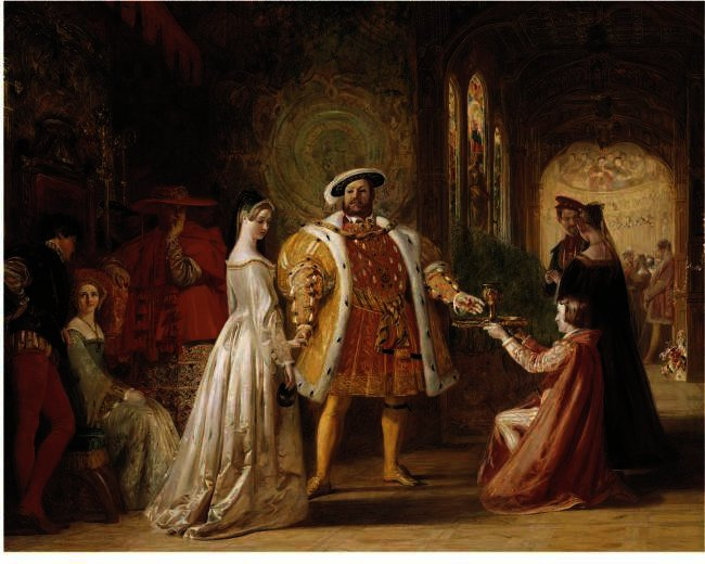 Henry Viii's First Interview With Anne Boleyn, Drawing by Daniel Maclise (1806-1870, Ireland)