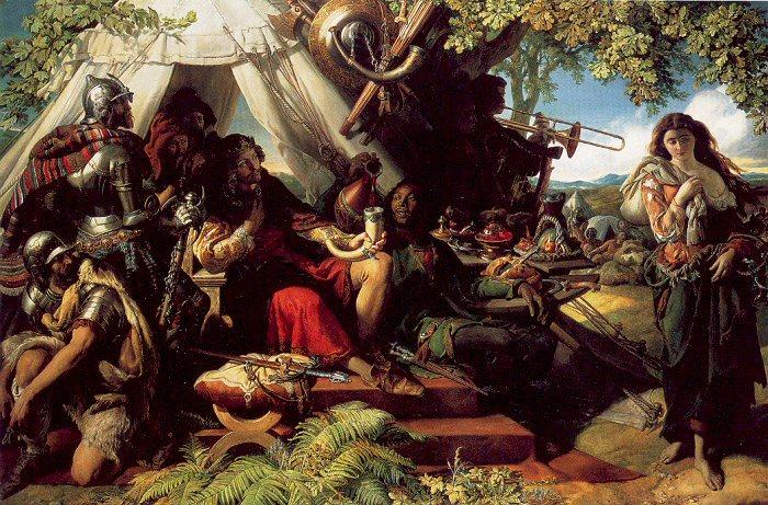 King Cophetua and the Beggarmaid, Drawing by Daniel Maclise (1806-1870, Ireland)