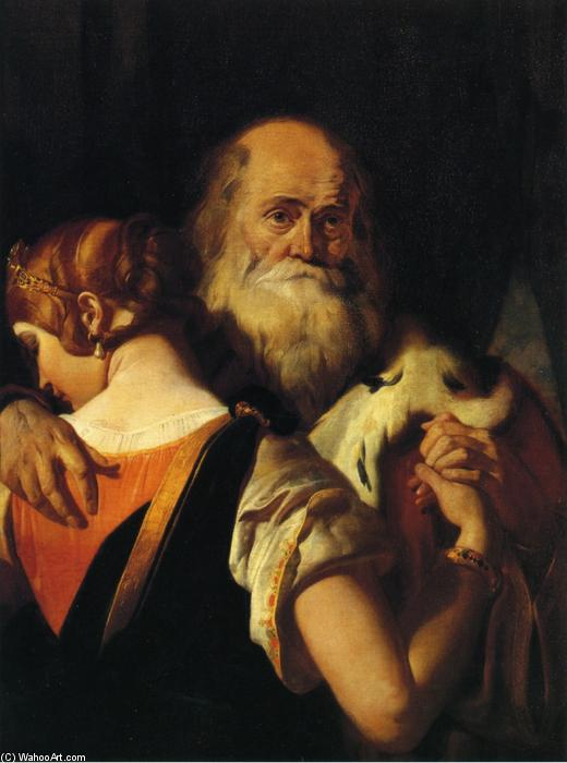 King Lear and Cordelia by Daniel Maclise (1806-1870, Ireland) | ArtsDot.com