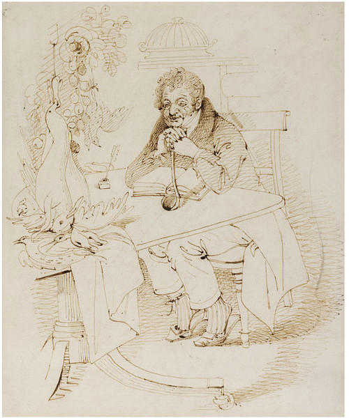 Louis Eustache Ude, French C, Drawing by Daniel Maclise (1806-1870, Ireland)