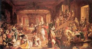 Daniel Maclise - Merry Christmas in the Baron-s Hall