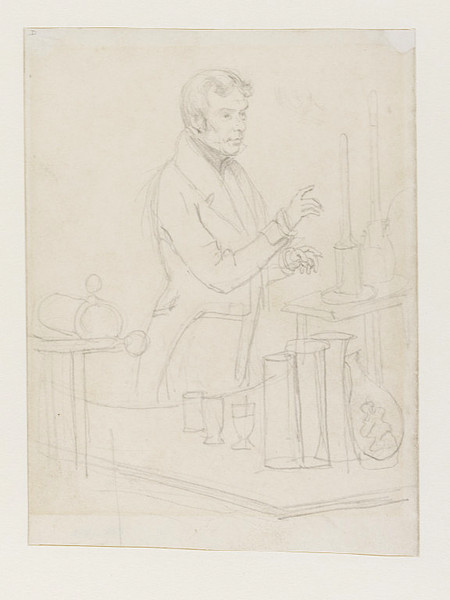 Michael Faraday, Drawing by Daniel Maclise (1806-1870, Ireland)