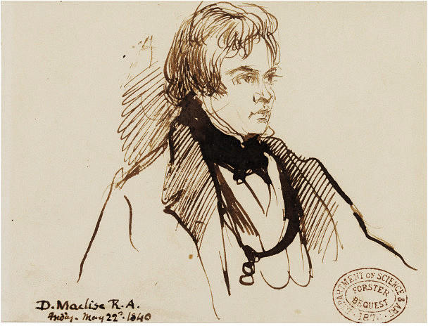 Portrait of Mr. Foster, Drawing by Daniel Maclise (1806-1870, Ireland)