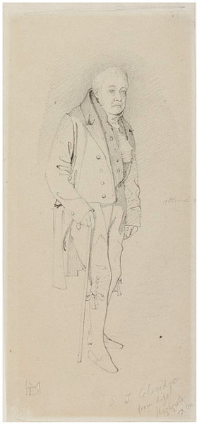 Portrait of Samuel Taylor Coleridge, poet, Drawing by Daniel Maclise (1806-1870, Ireland)