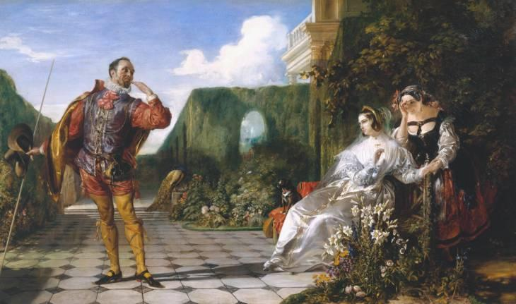 Order Art Reproduction : Scene from `Twelfth Night` (`Malvolio and the Countess`) by Daniel Maclise (1806-1870, Ireland) | ArtsDot.com