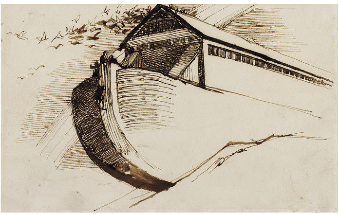 The Ark, Drawing by Daniel Maclise (1806-1870, Ireland)