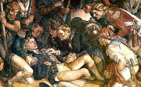 The Death of Nelson (detail), Drawing by Daniel Maclise (1806-1870, Ireland)