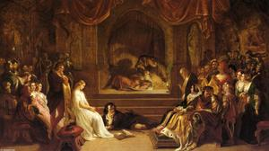 Daniel Maclise - The Play Scene from Hamlet