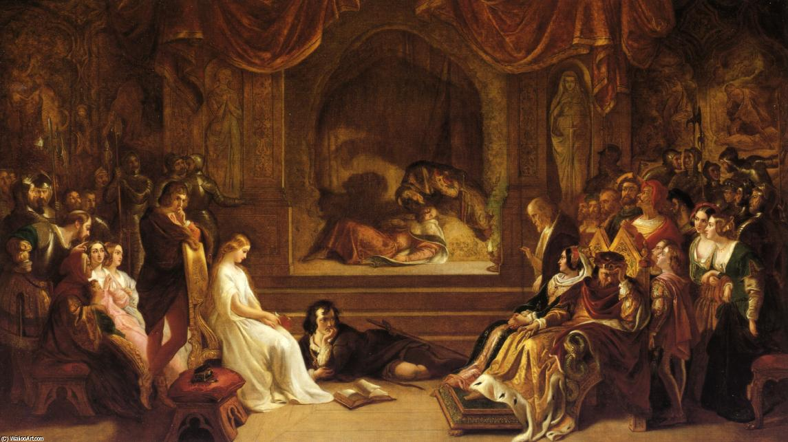 The Play Scene from Hamlet by Daniel Maclise (1806-1870, Ireland) | Art Reproduction | ArtsDot.com