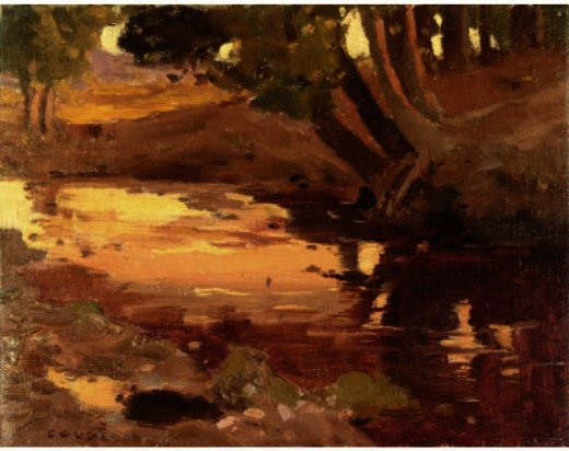 Brook With Wooded Area by Eanger Irving Couse (1866-1936, United States) | Art Reproduction | ArtsDot.com