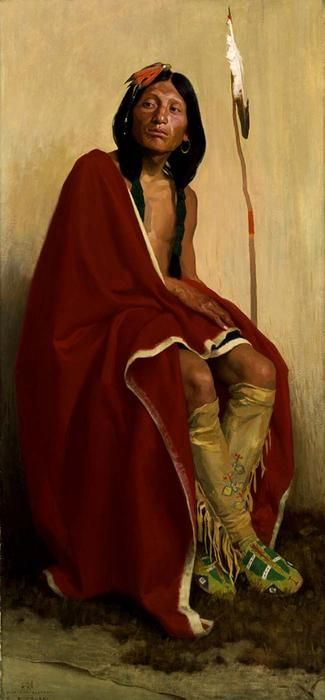 Elk-Foot Of The Taos Tribe by Eanger Irving Couse (1866-1936, United States) | Museum Art Reproductions | ArtsDot.com