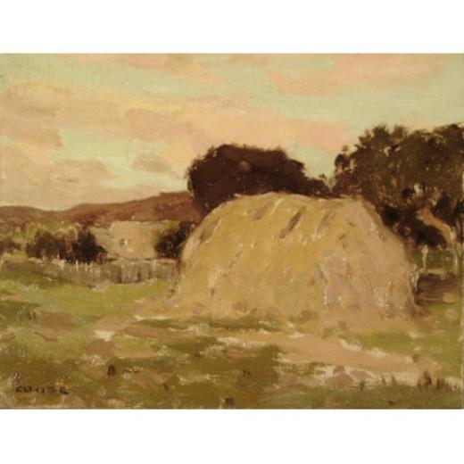 Haystack, Drawing by Eanger Irving Couse (1866-1936, United States)