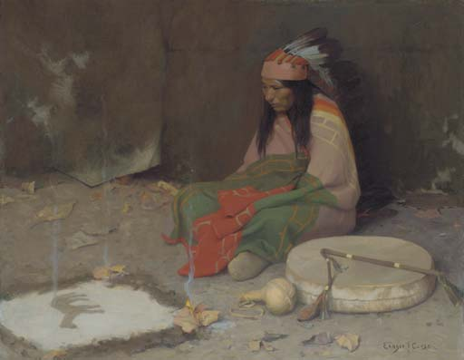 Medicine Man, Drawing by Eanger Irving Couse (1866-1936, United States)