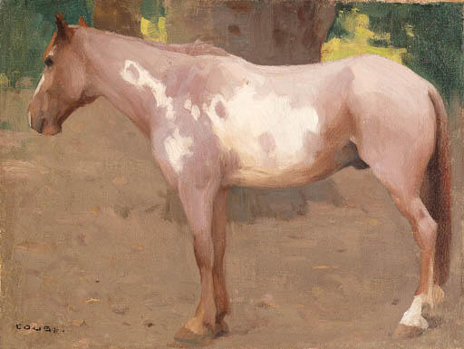 Pinto Pony and Concierge; two works by Eanger Irving Couse (1866-1936, United States) | Art Reproduction | ArtsDot.com