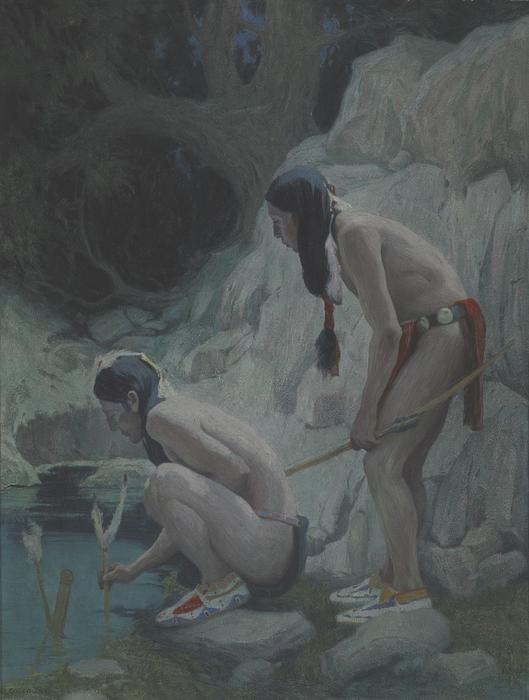 Sacred Waters, Drawing by Eanger Irving Couse (1866-1936, United States)