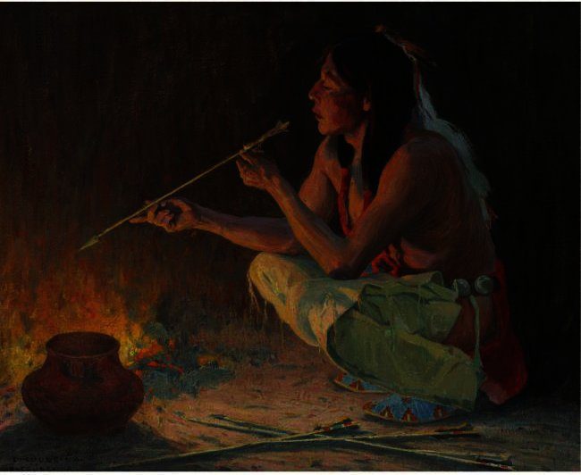 The Arrow Maker by Eanger Irving Couse (1866-1936, United States) | ArtsDot.com