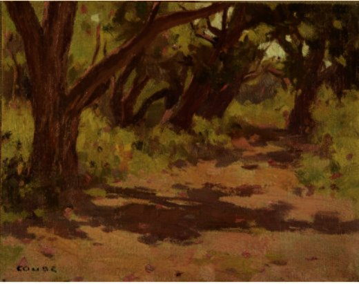 Trees And Shadows by Eanger Irving Couse (1866-1936, United States) | ArtsDot.com