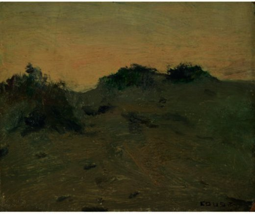 Weeded Dune, Drawing by Eanger Irving Couse (1866-1936, United States)