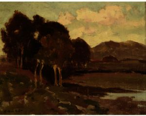 Eanger Irving Couse - Wooded Hill