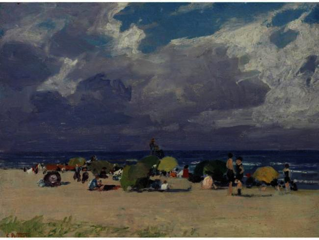A Day At The Beach 2 by Edward Henry Potthast (1857-1927, United States) | Museum Art Reproductions Edward Henry Potthast | ArtsDot.com