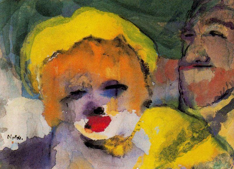 Blonde Girl and Man by Emile Nolde (1867-1956, Germany)