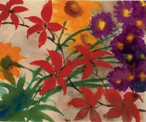 Blooming summer by Emile Nolde (1867-1956, Germany)
