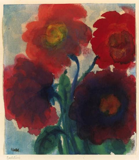 Dahlias by Emile Nolde (1867-1956, Germany)