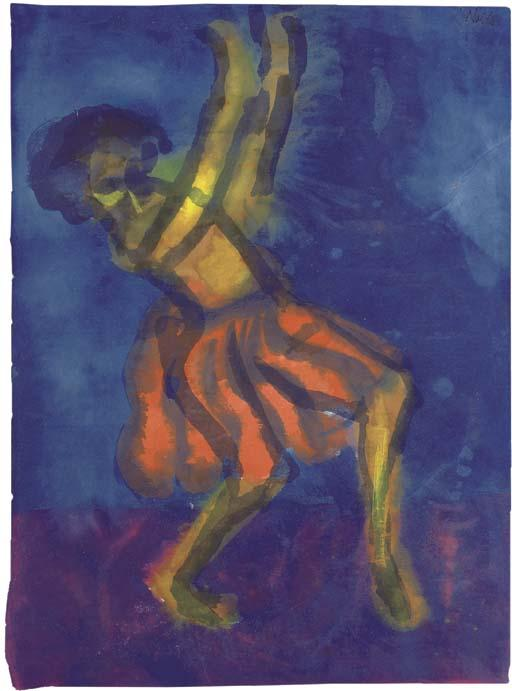 Dancer 1 by Emile Nolde (1867-1956, Germany)