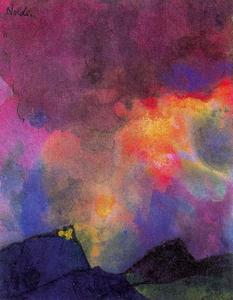 Emile Nolde - Dark Mountain Landscape