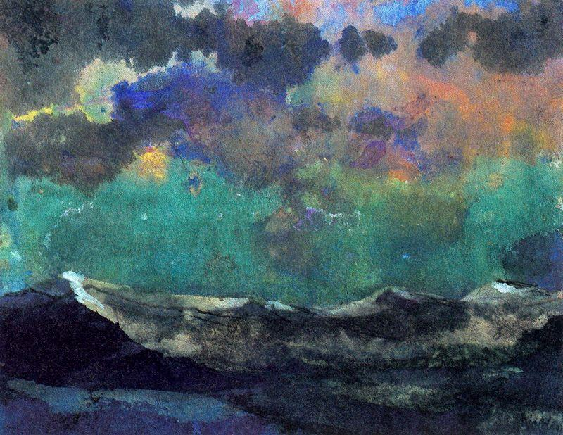 Dark Sea (Green Sky) by Emile Nolde (1867-1956, Germany)