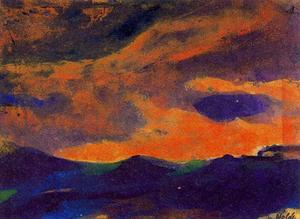 Emile Nolde - Dark Sea with Brown Sky