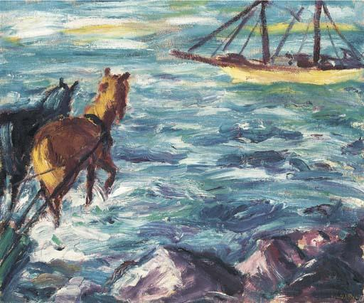 Embarkation by Emile Nolde (1867-1956, Germany)