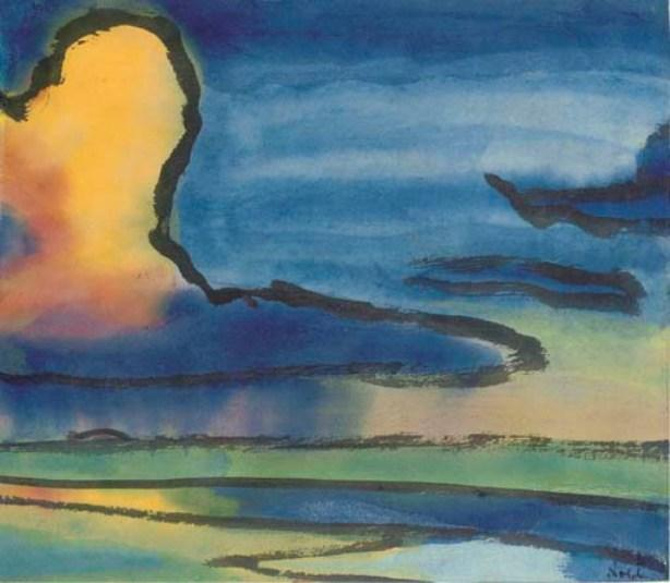 Evening by Emile Nolde (1867-1956, Germany) | Painting Copy | ArtsDot.com