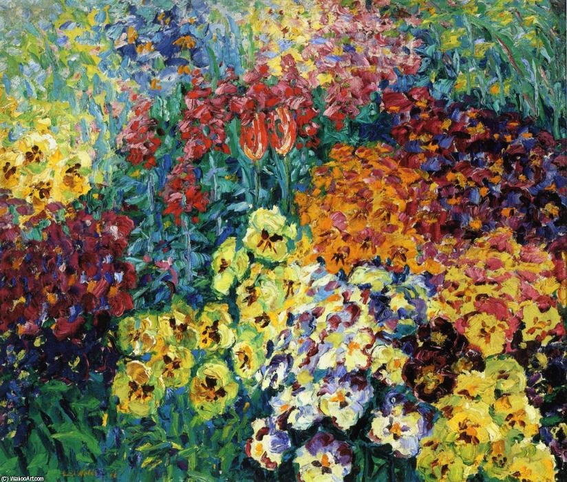 Flower Garden. Pansies by Emile Nolde (1867-1956, Germany)