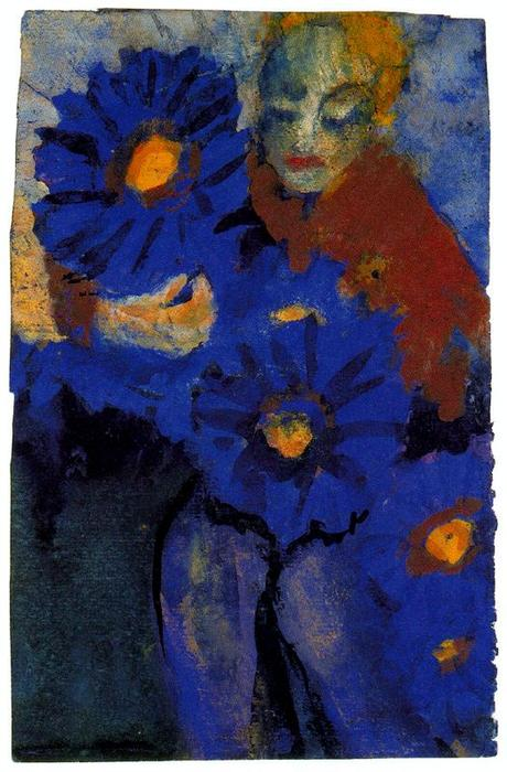 Flower Lady by Emile Nolde (1867-1956, Germany)