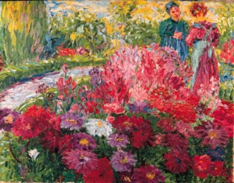 Flowergarden 1 by Emile Nolde (1867-1956, Germany)