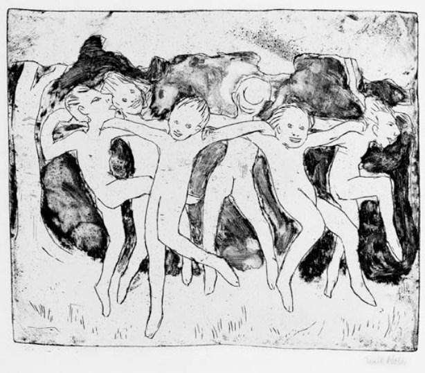 Forest children by Emile Nolde (1867-1956, Germany)