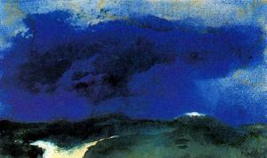 Emile Nolde - Green Sea with Blue Cloud