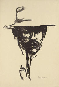 Emile Nolde - Head with pipe