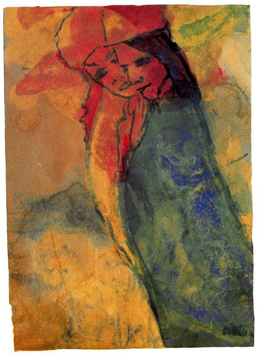 Hovering Couple by Emile Nolde (1867-1956, Germany)