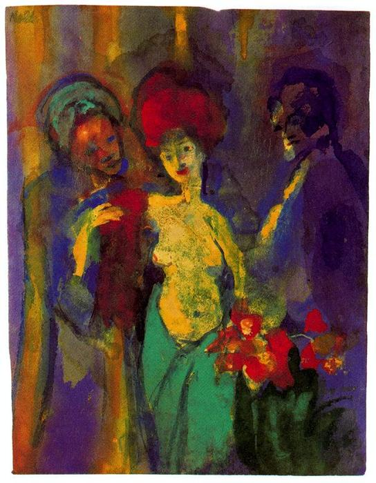 In the Dressing Room by Emile Nolde (1867-1956, Germany)